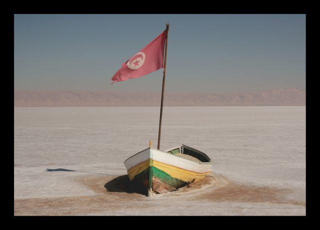 Zdjęcia: chott el jerid, chott el jerid, slone jezioro, TUNEZJA