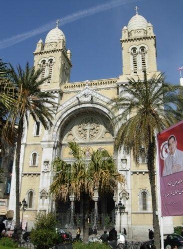 Zdjęcia: Tunis, Północna Tunezja, Katedra St Vincent de Paul w Tunisie , TUNEZJA