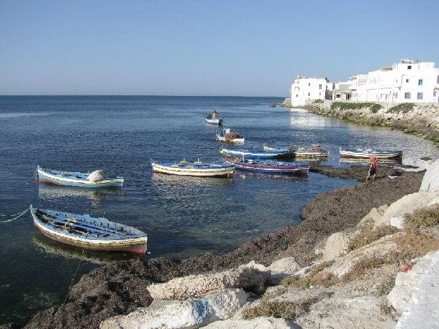 Zdj�cia: Mahdia, przysta� rybacka, TUNEZJA