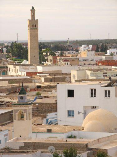 Zdjęcia: Widok na miasto Al-Dżem z ruin amfiteatru., Al-Dżem (El-Dżem), TUNEZJA
