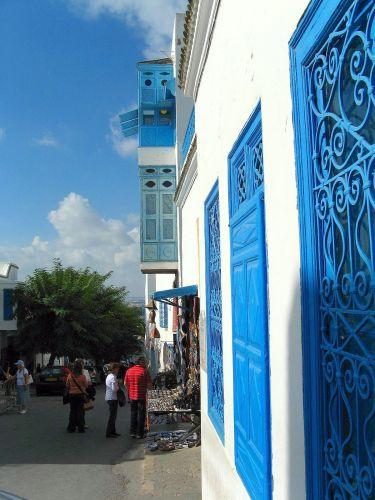 Zdjęcia: Ulica Sidi Bu Said, wioska położona nad Zatoką Tuniską. , Sidi Bu Said, TUNEZJA