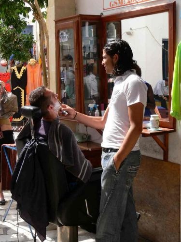 Zdjęcia: Hammamet, Uliczny fryzjer, TUNEZJA