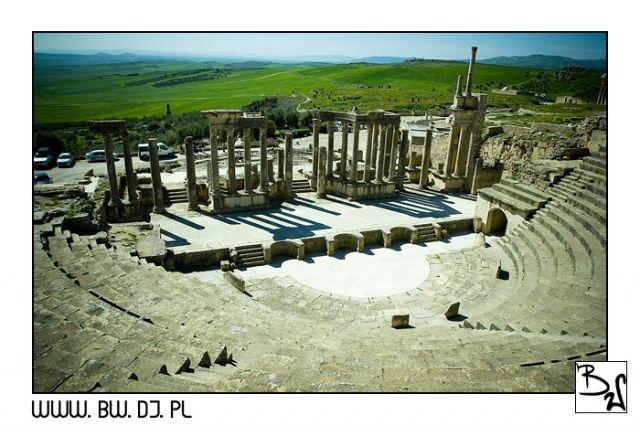 Zdjęcia: Dugga, Środkowa część Tunezji - Dugga, Dugga - Teatr, TUNEZJA