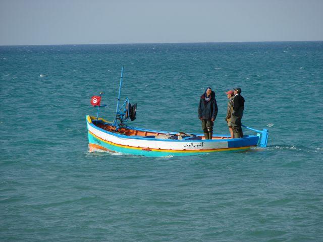 Zdjęcia: Hamamet, hamamet, Rybacy, TUNEZJA