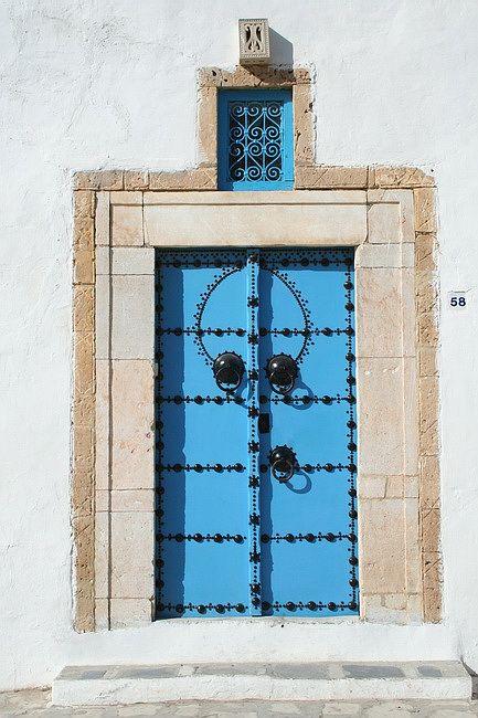 Zdjęcia: Sidi Bu Said, Tunis, Naćwiekowane drzwi, TUNEZJA