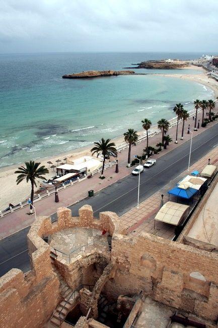 Zdjęcia: Monastir, Wschodnia Tunezja, Widok z ribatu, TUNEZJA