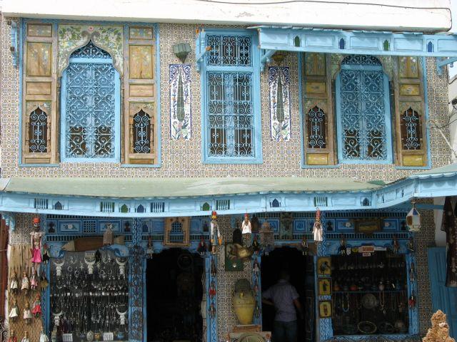 Zdjęcia: ., stary Hammamet, kolorowy sklep, TUNEZJA