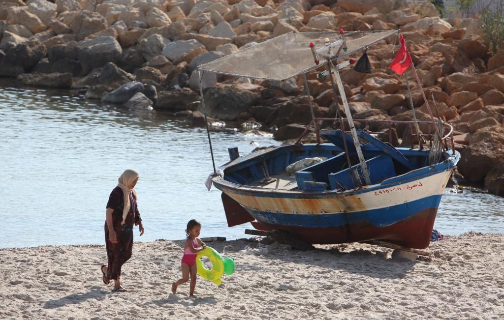Zdjęcia: Hergla, Sahel Tunezyjski, Powrót z plaży, TUNEZJA