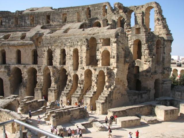 Zdjęcia: Al-Dżamm, Wschodnia Tunezja, Amfiteatr w Al-Dżamm, TUNEZJA