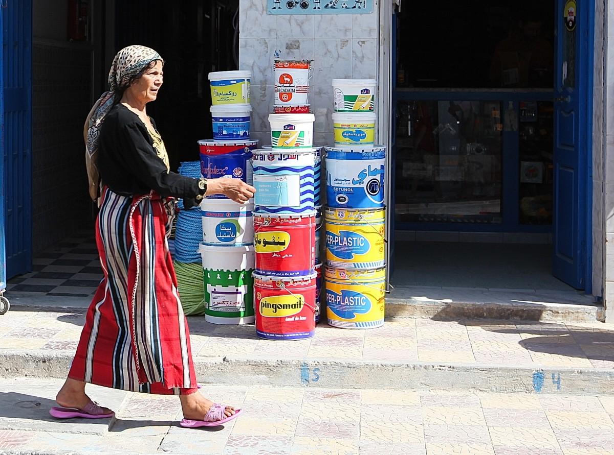 Zdjęcia: Hergla, Sahel Tunezyjski, Kobieta z Hergli, TUNEZJA
