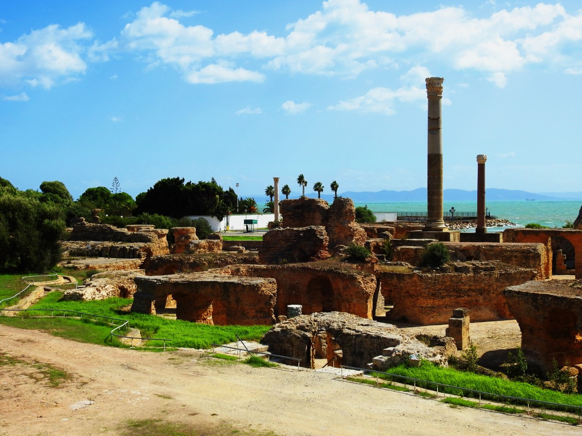 Zdjęcia: Kartagina, Tunis, Termy Antoniusza, TUNEZJA