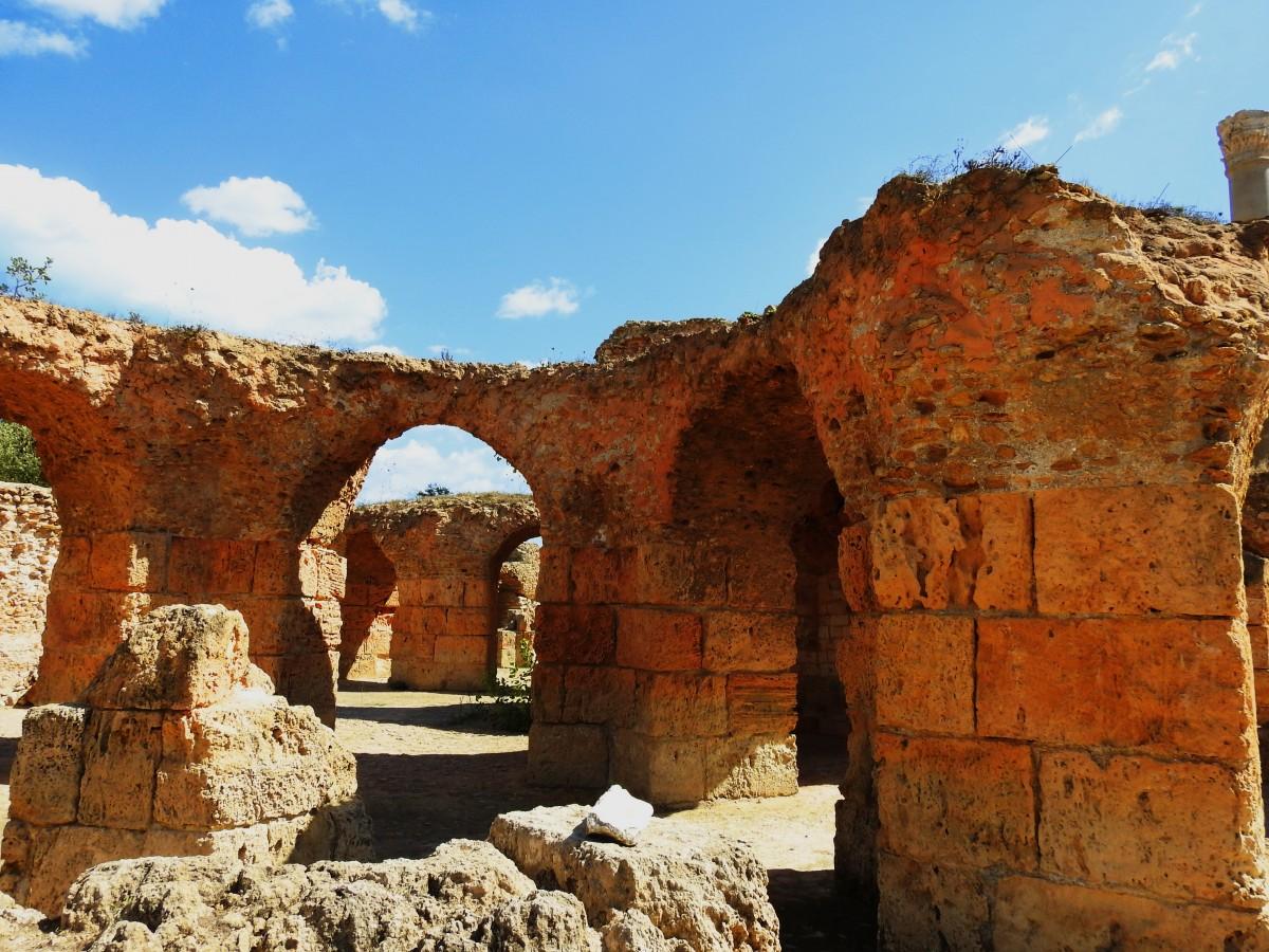 Zdjęcia: Kartagina, Tunis, Termy Antoniusza 2, TUNEZJA