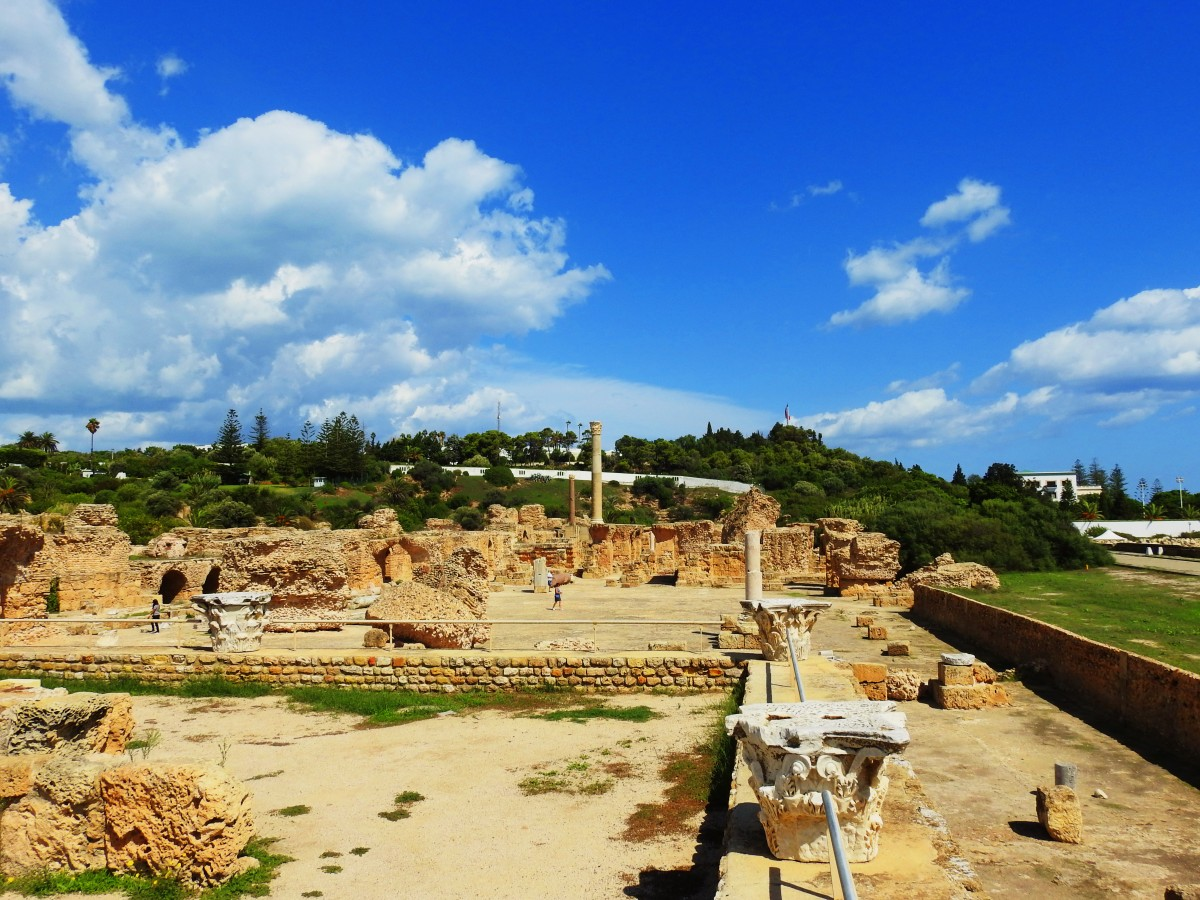 Zdjęcia: Kartagina, Tunis, Termy Antoniusza 3, TUNEZJA