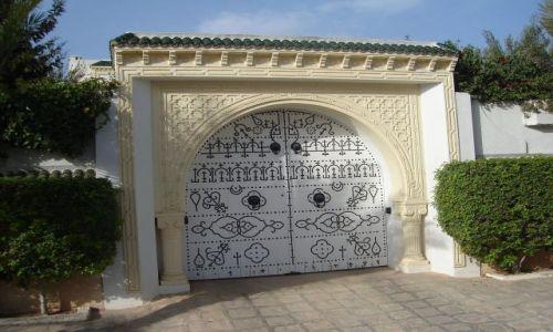 TUNEZJA / Wsch. Tunezja / Port El - Kantaoui / Tunezyjskie drzwi i bramy :)