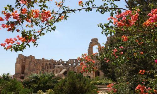 TUNEZJA / - /  El-Jem  /  El-Jem Koloseum z drugiej strony