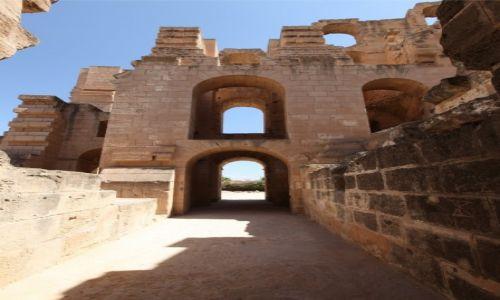Zdjęcie TUNEZJA / Sahel Tunezyjski / El Jem / Mury Koloseum
