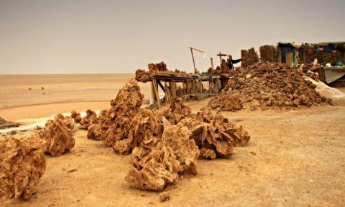 Zdjecie TUNEZJA /  środkowo-zachodniej Tunezji. / słone jezioro w Tunezji . / Handel-Jezioro słone.