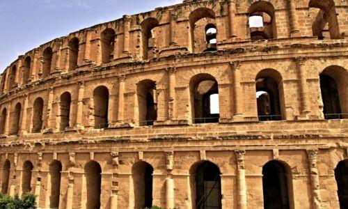 Zdjecie TUNEZJA / wschodniej Tunezji, / El Jem / Amphitheater El Djem