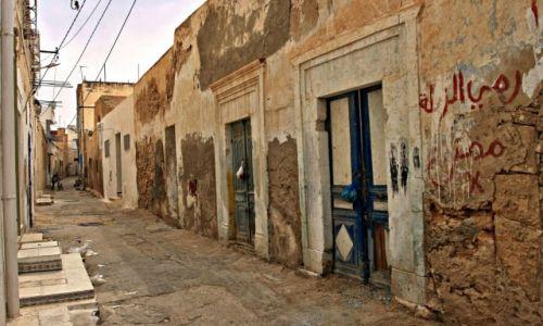 Zdjecie TUNEZJA / - / Tunis /  Małe uliczki o francuskim charakterze