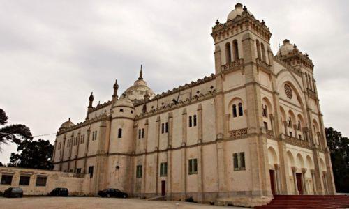 Zdjecie TUNEZJA / - / Kartagina /  Katedra św. Ludwika w Kartaginie
