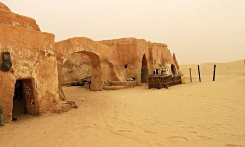 TUNEZJA / Tatooine / Pustynia / miasteczko  z