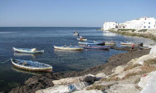 Zdjecie TUNEZJA / brak / Mahdia / przystań rybacka