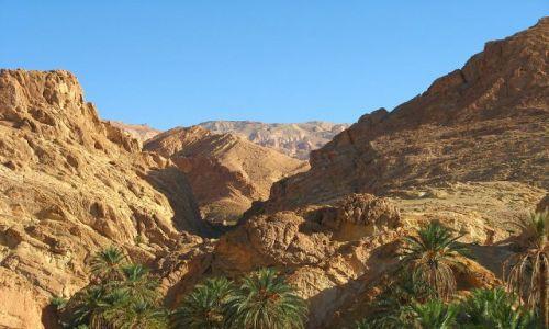 Zdjecie TUNEZJA / brak / Tunezja, a dalej za górami Algieria / A obok oaza w górach:-)