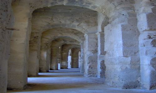 Zdjecie TUNEZJA / na po�udnie od Sousse / El Jem / Amfiteatr w El