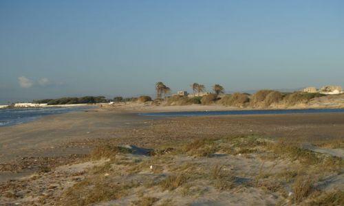 Zdjęcie TUNEZJA / Cedrji Plage  /  ujście rzeki  / jeszcze nie wyschła