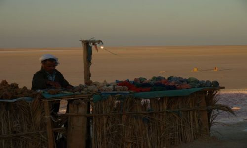 Zdjęcie TUNEZJA / Chott el Jerid / pobocze / na uboczu mniej klientów