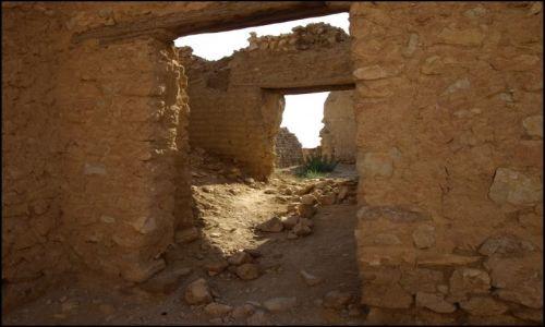 Zdjęcie TUNEZJA / Oaza Chebika / było miasteczko / fragmenty miasteczka