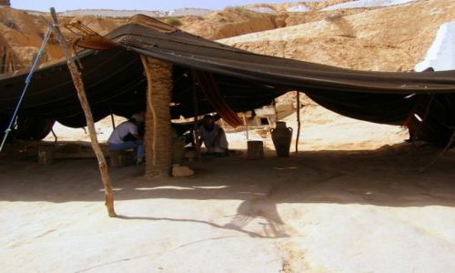 TUNEZJA / Tunezja / Sahara / namiot Berber�w