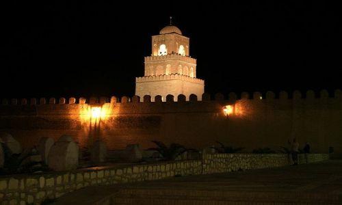 TUNEZJA / Centrum / Kairouan / Wielki Meczet nocą - dla Naturell :)