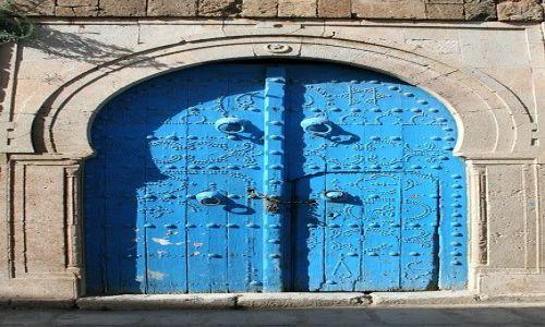 TUNEZJA / Tunis / Sidi Bu Said / Stylowe drzwi