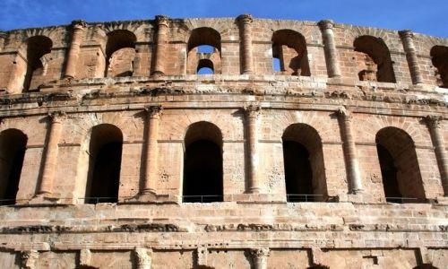 TUNEZJA / Środkowa Tunezja / El Jem / Afrykańskie Coloseum
