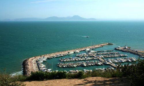 TUNEZJA / Tunis / Sidi Bu Said / Widok na marinę