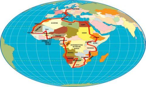 Zdjecie TUNEZJA / Afryka / Dookoła Afryki / Planowana trasa wyprawy