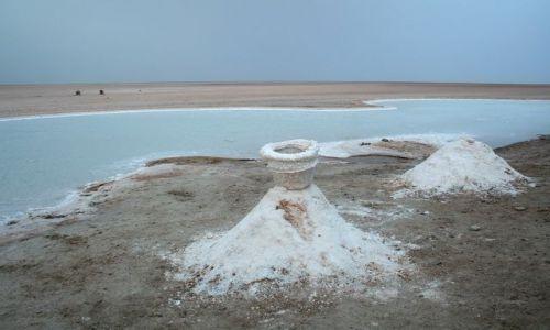 TUNEZJA / - / Chott El Jerid / Słone jezioro