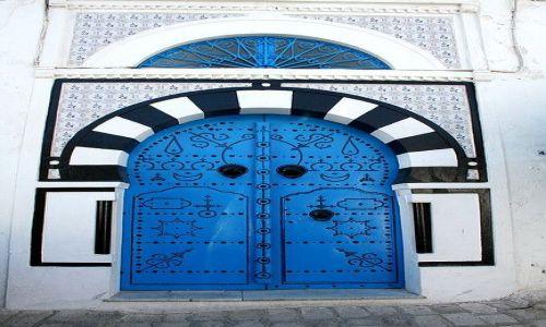 Zdjecie TUNEZJA / Tunis / Sidi Bu Said / Drzwi - konkurs