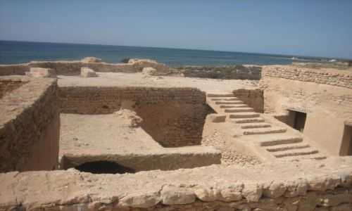 TUNEZJA / Wyspy Kerkennah / Wyspa Chergui / Twierdza  Borj el - Hissar