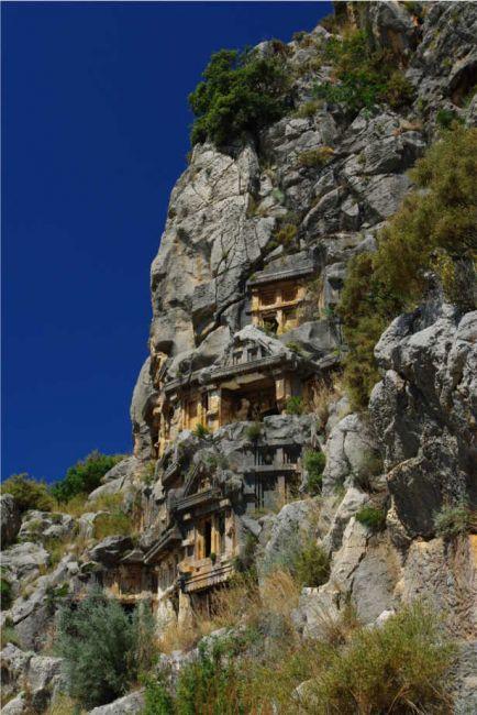 Zdjęcia: Demre / Myra, Skalne grobowce, TURCJA