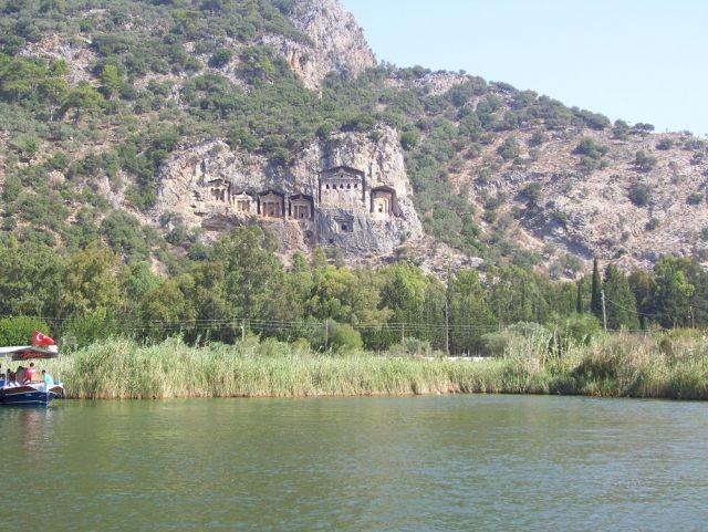 Zdjęcia: Dalyan, Turcja Egejska, grobowce likijskie, TURCJA