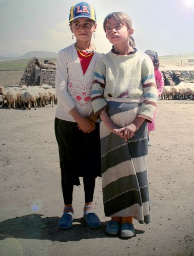 Zdj�cia: wioska kurdyjska, Dogubeyazit, STRAZNICZKI STADA, TURCJA
