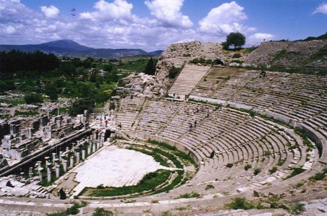 Zdjęcia: Efez, Wybrzeże Egejskie, Teatr przy Drodze Arkadyjskiej, TURCJA