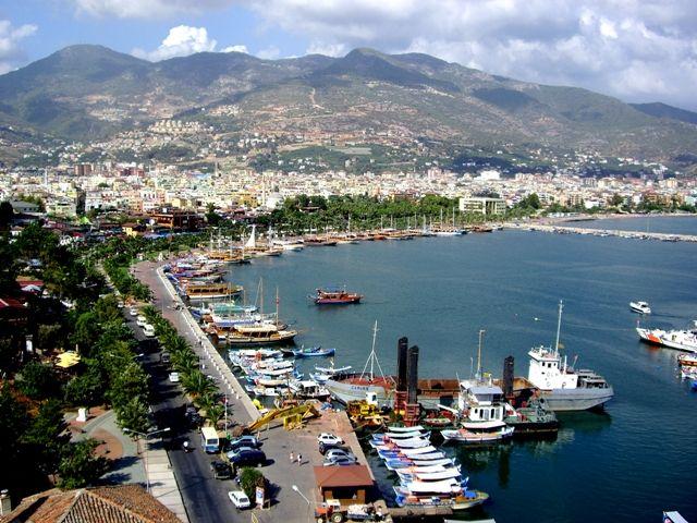 Zdjęcia: Port w Alanyi, Riwiera Turecka, Widok z Czerwonej Wieży, TURCJA