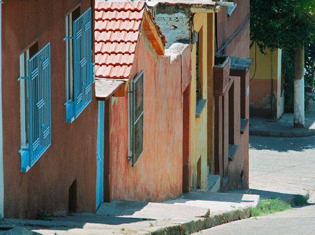Zdjęcia: Aydin, zachodnia Anatolia, domy na przedmieściach, TURCJA