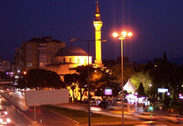Zdjęcia: Aydin, zachodnia Anatolia, centrum Aydin nocą, TURCJA