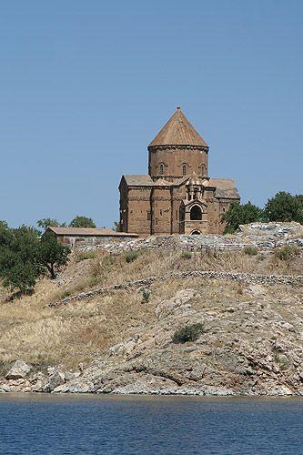 Zdjęcia: Akdamar, Wschodnia Anatolia, Ormiański kościół na wyspie Akdamar, TURCJA
