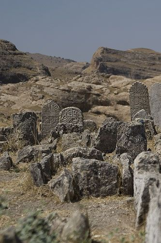 Zdjęcia: Hasankeyif, ruiny cmentarza, TURCJA