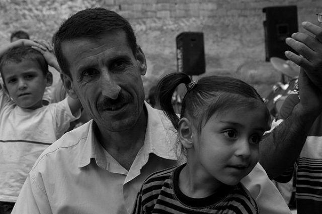 Zdj�cia: Diyarbakir, Wschodnia Anatolia, tata i c�rka, TURCJA